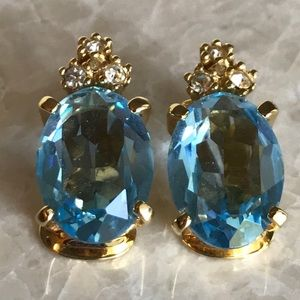 Dior earrings topaz stone authentic